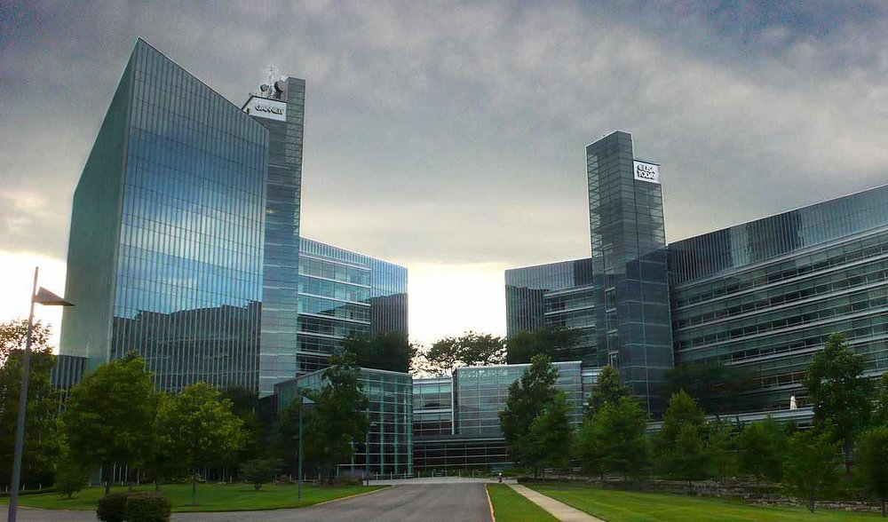 The Arlington, Virginia headquarters of USA Today, published by Gannett.