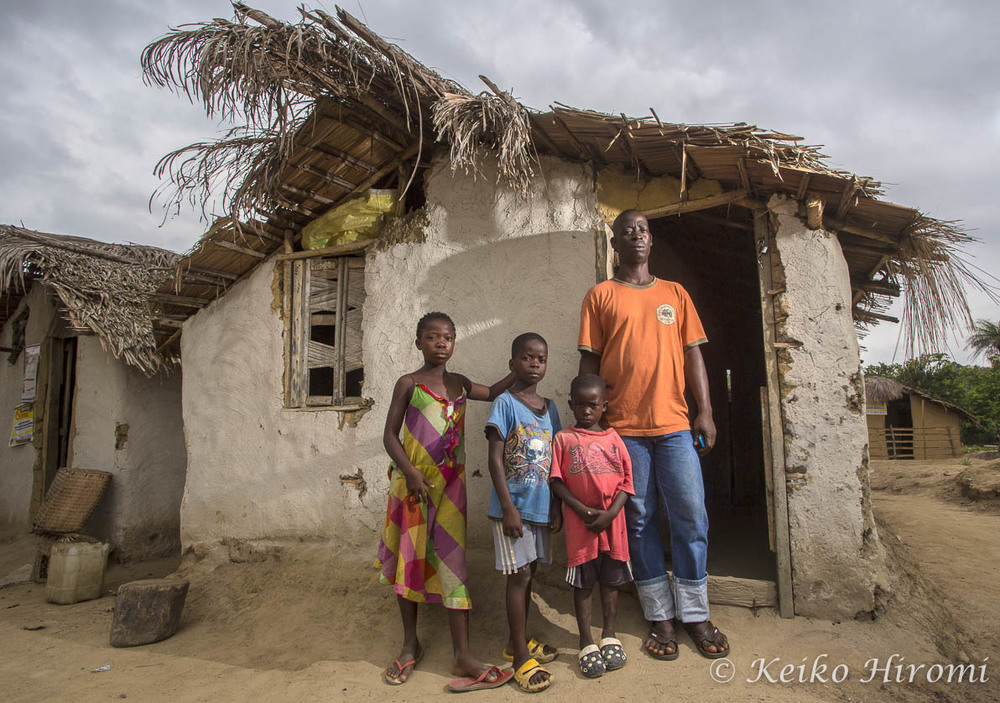 Ebola Survivor Chris Mahyee with his children
