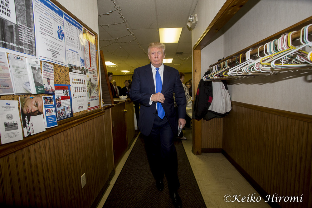 April 27, 2015: VFW Post 5791, Hudson, NH: Donald Trump potential Republican Presidential candidate, campaigning VFW Post 5791 in Hudson, NH.