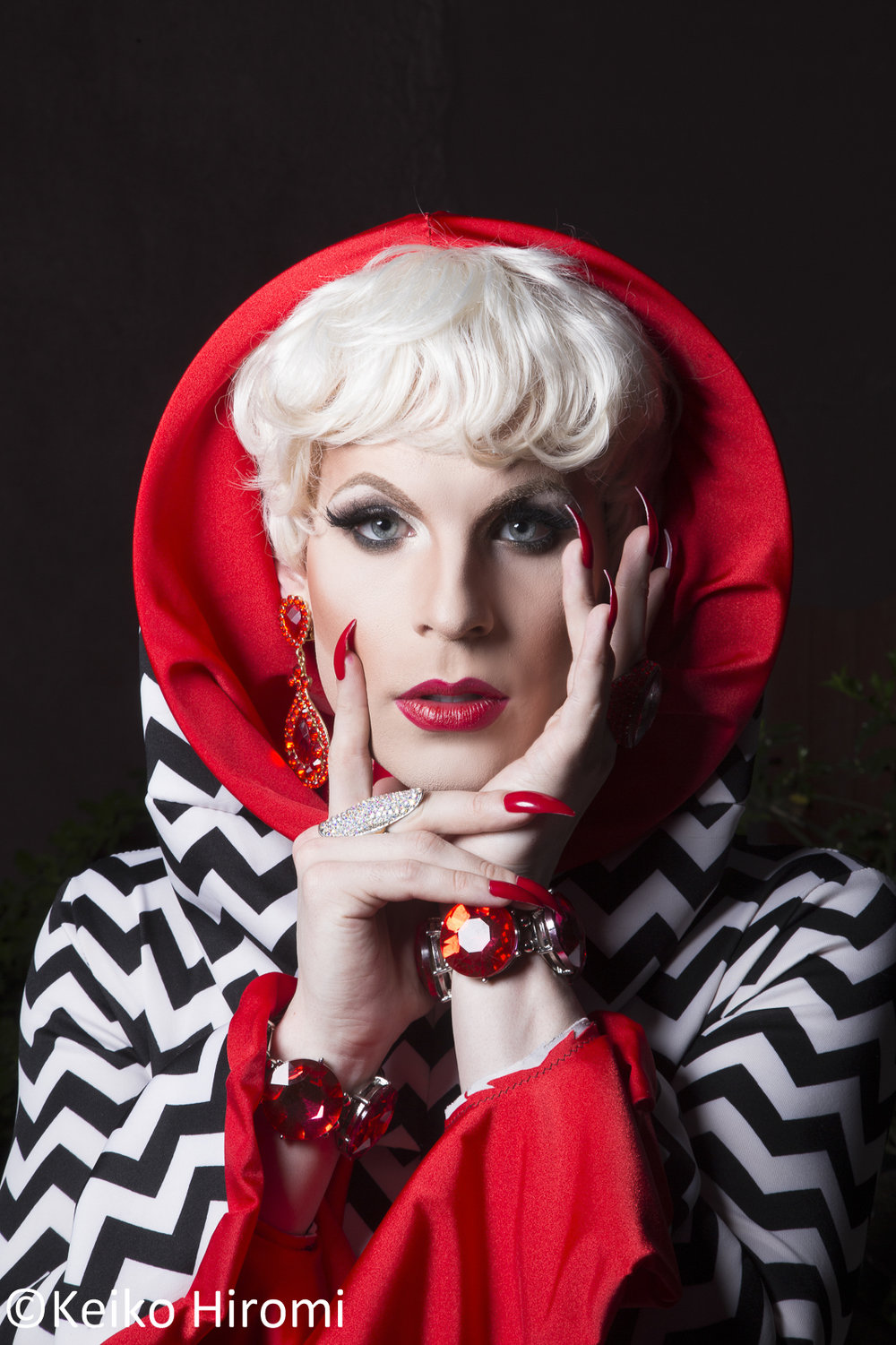 Portrait of Katya, Drag queen in Boston, Massachusetts.