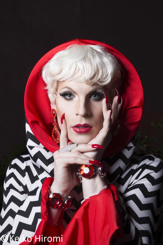 Portrait of Katya, Drag queen in Boston, Massachusetts.