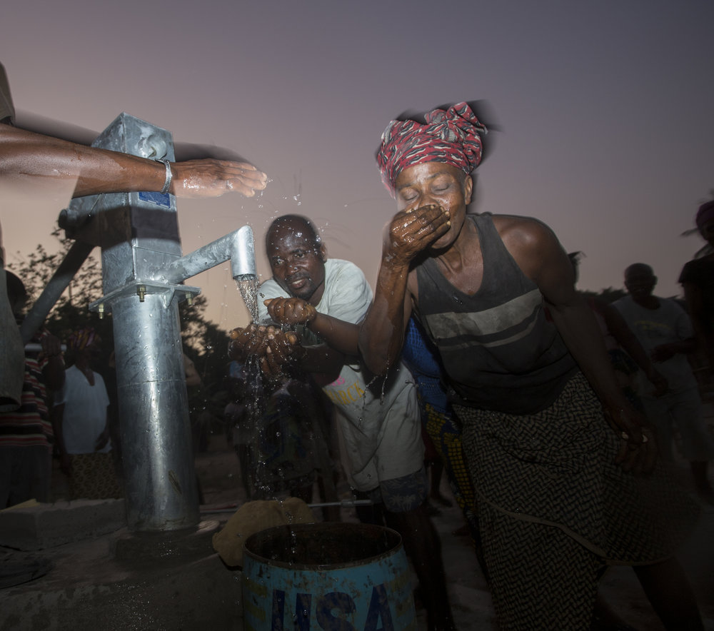 FACE Africa, Clean water NGO built a hand pump well in Kpor Town, Liberia.