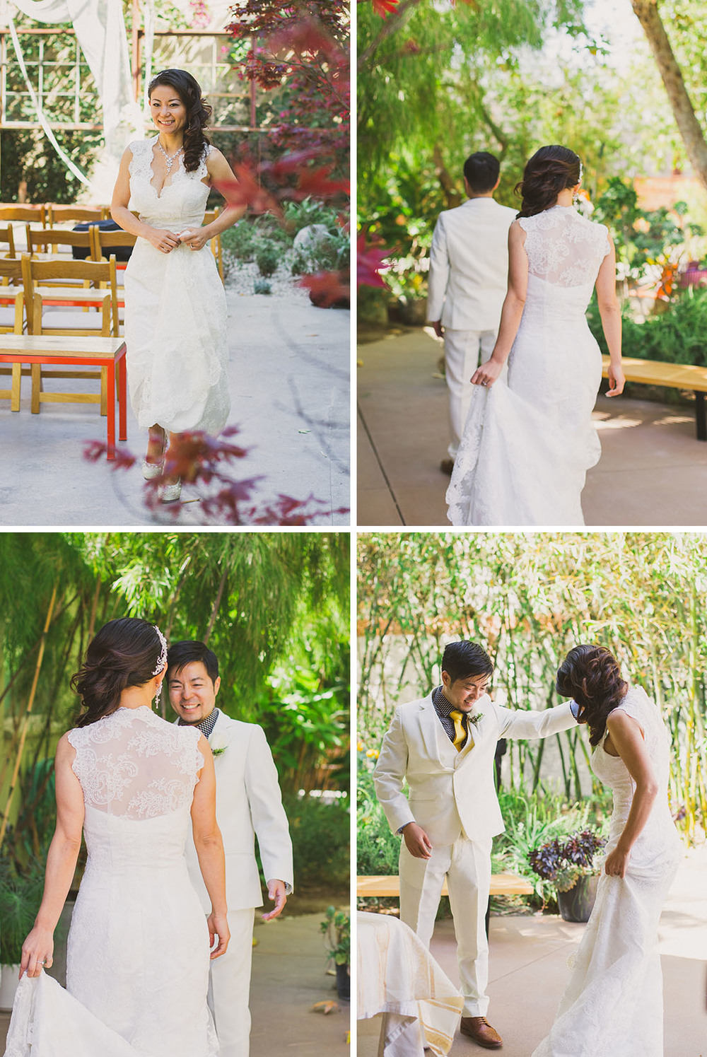first look; urban LA wedding by Blissfully Illuminated