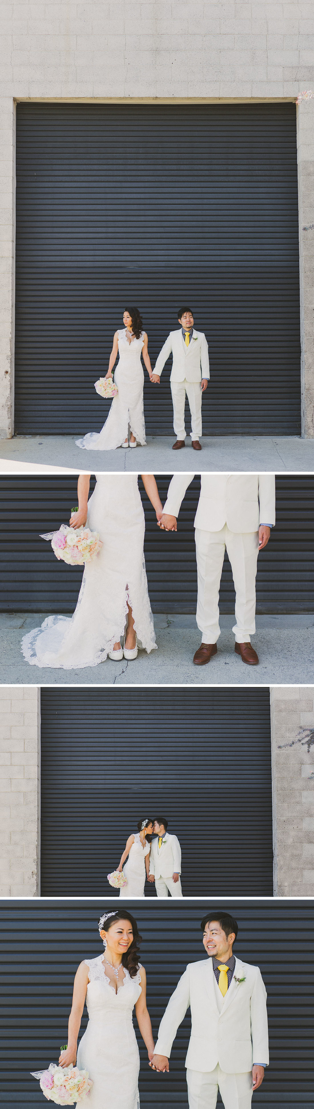 bride and groom; urban LA wedding by Blissfully Illuminated