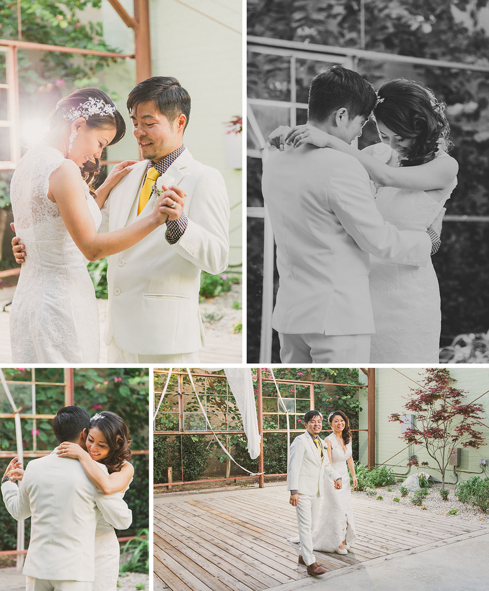 first dance; urban LA wedding by Blissfully Illuminated