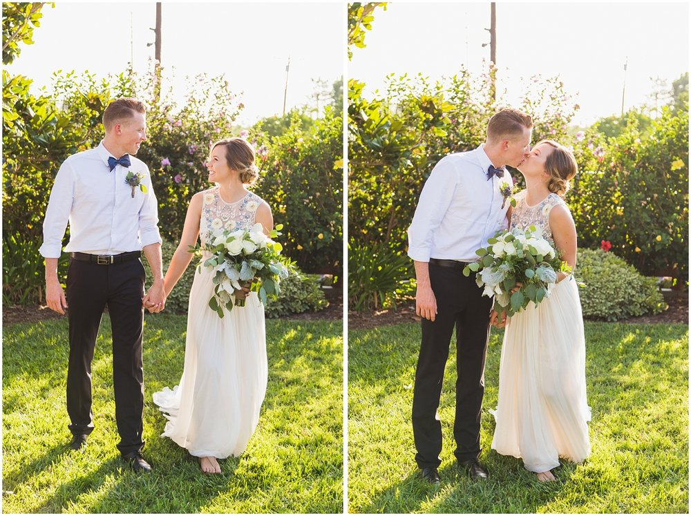 romantic natural light couple portraits bride and groom kissing.jpg