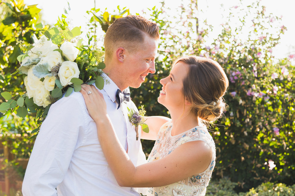 orange county wedding photographer_backyard outdoors wedding romantic bride and groom portrait natural light.jpg