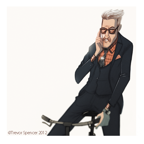 I was inspired by a photo on the sartorialist and so I did a little piece from it.  Im thinking about doing a small series based around this theme :) We shall see...  T.W. Spencer