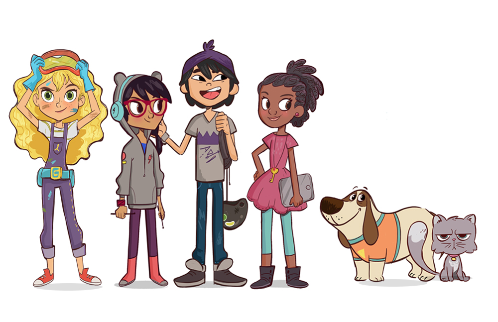 Character Design for Goldie Blox main characters
