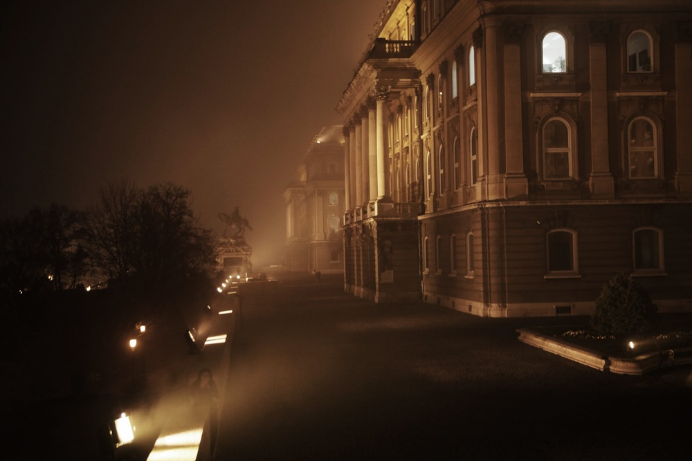 That eerie fog again, around the Hungarian capital's main library