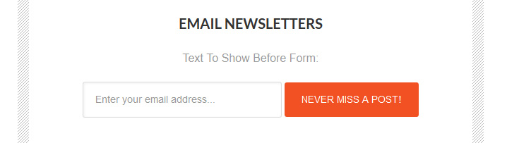 A typical newsletter subscription button used in many websites