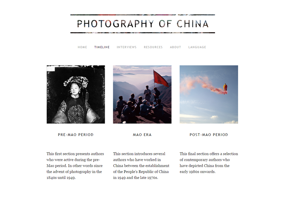 Client: Photography of China (professional blog)
