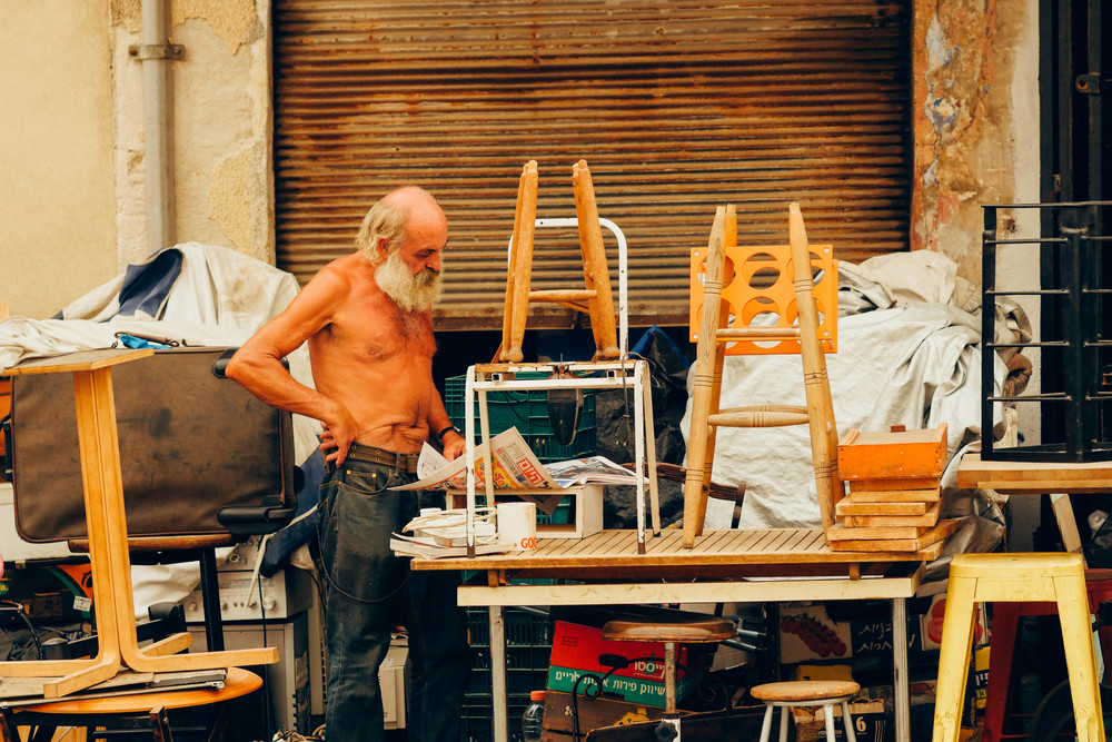 Vendor in the Shuk / Souk (flea market)