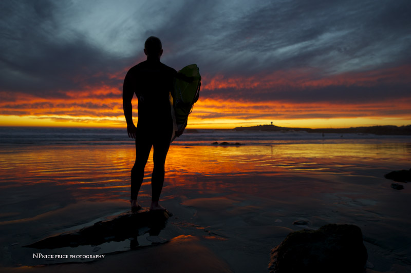 surfer & sunset