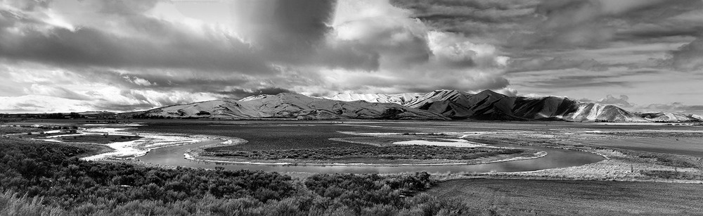 East Oxbow Pano. Silver Creek, Idaho. February, 2013