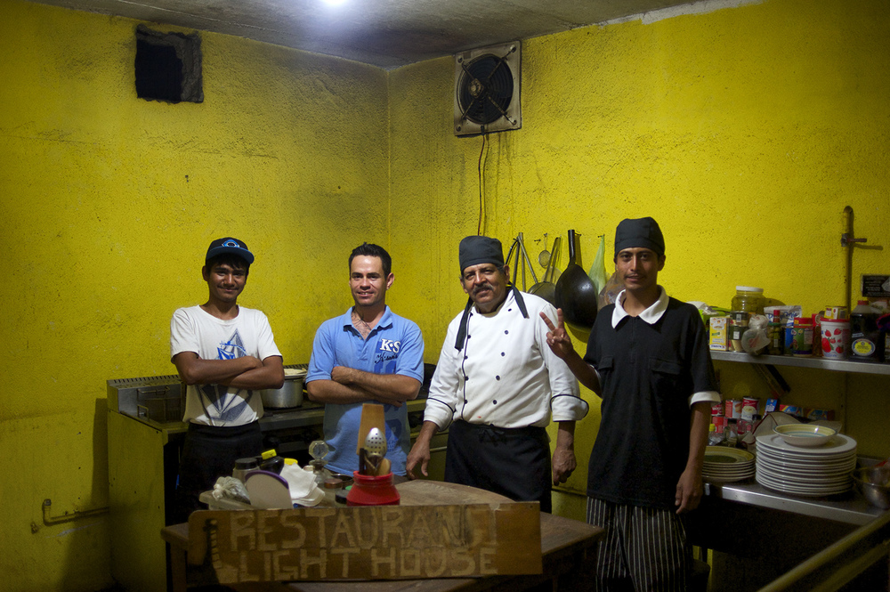Lighthouse Restaurant employees. La Ribera, Mexico.