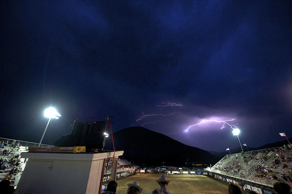 Hailey, Idaho Rodeo & Lightning.