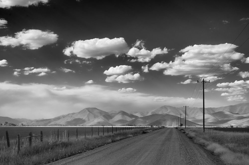 Stocker Road & Smoke. August. Idaho.