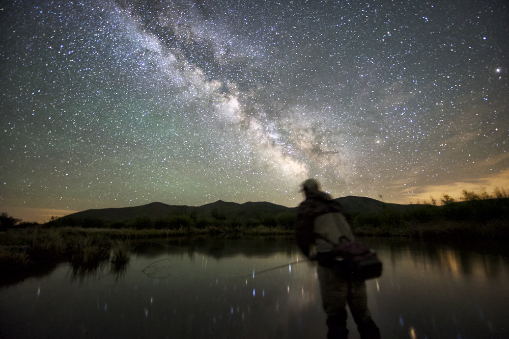 Night Fisherman & Milky Way