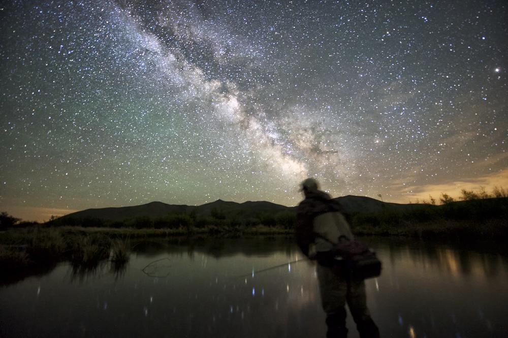 Night Fisherman & Milky Way