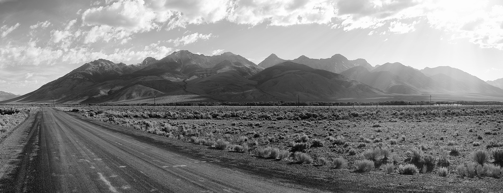 Road & Lost River Range. Idaho. Early Summer.