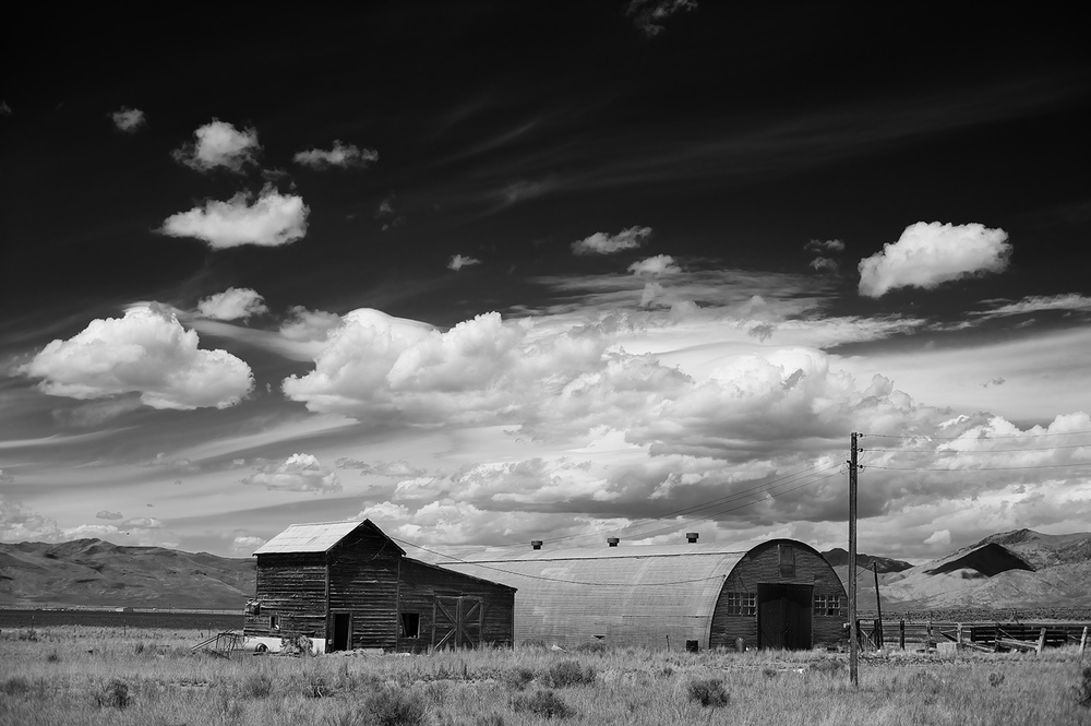 Buildings just west of Arco.