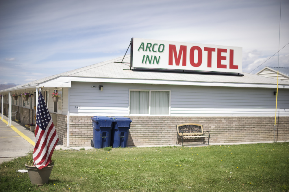 An old Arco motel. During better times, motels in Arco were abundant and occupied. This motel still appeared open.