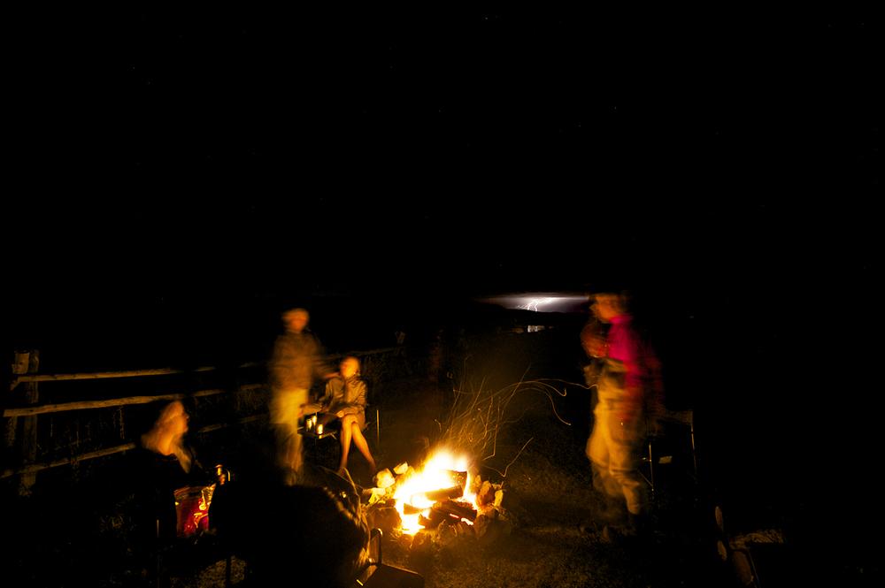 Lightning & Campfire