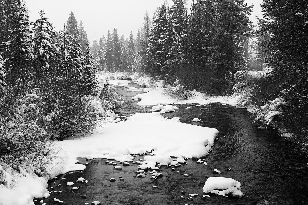 Upper Big Wood River. Early Winter. Idaho.
