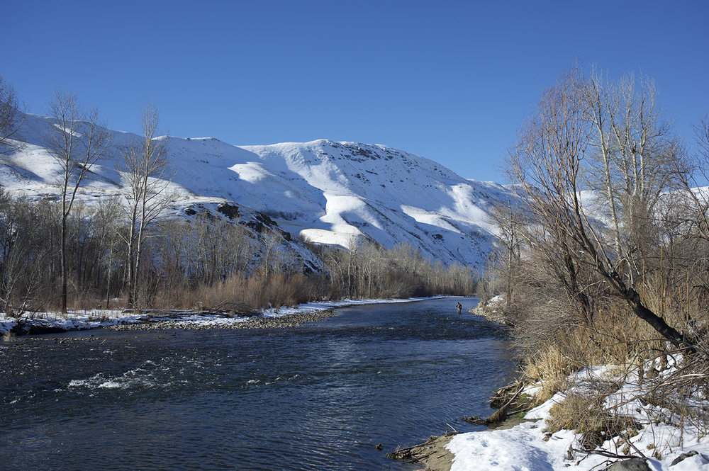 Winter. South Fork Of The Boise River
