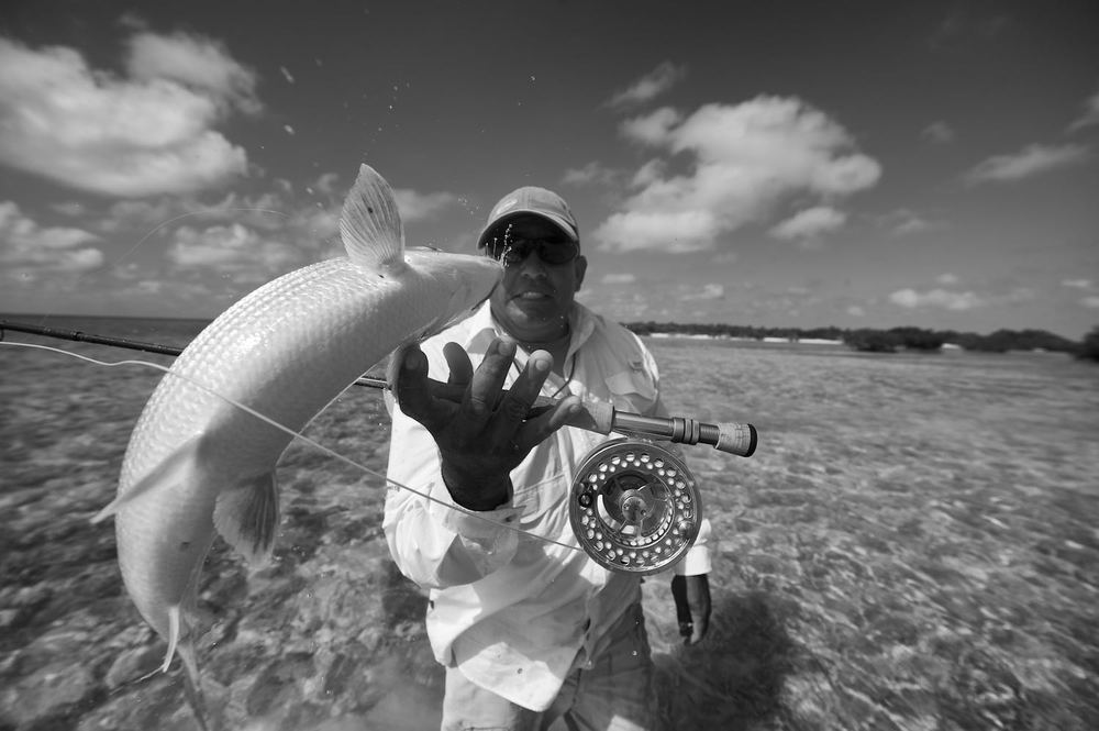 Keko may have been surprised after I caught a bonefish when I asked him if he could hold the fish for a pic.