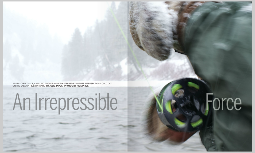 Anglers Journal Winter 2015. 6 page story on Salmon River, Idaho steelheading