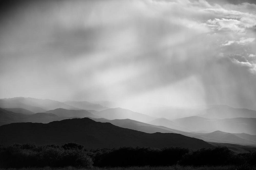Sun Rays & Storm Cell. Idaho.
