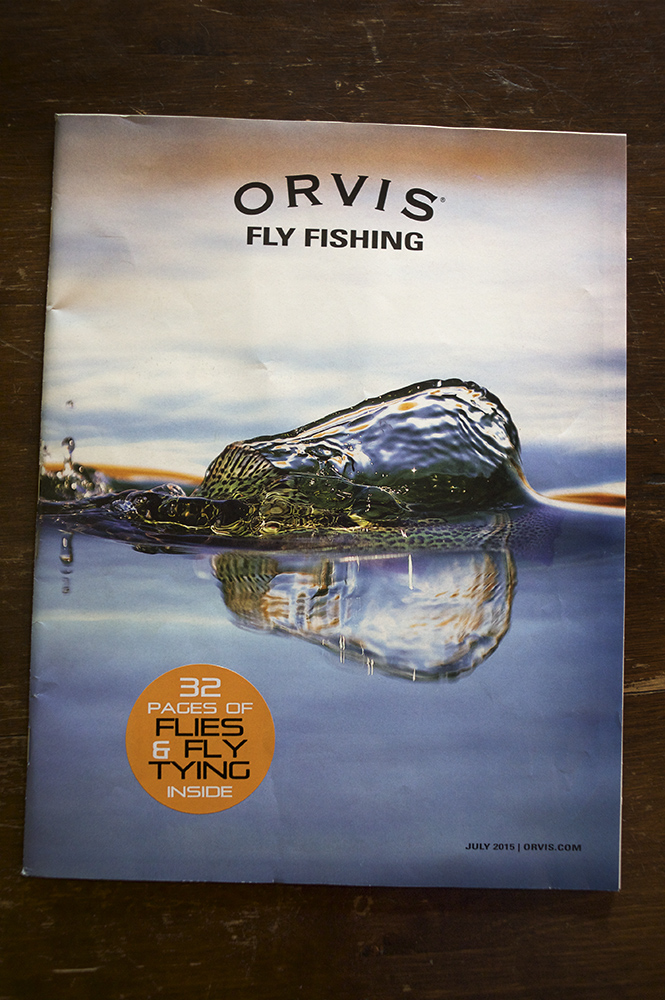 Orvis Summer Fly Fishing Catalog Cover. 2015