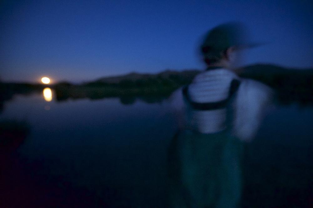 Moon Rise. Silver Creek