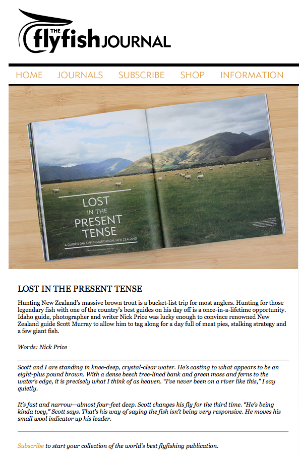 Feature story, words and photography, in issue 7.1 of The FlyFish Journal.