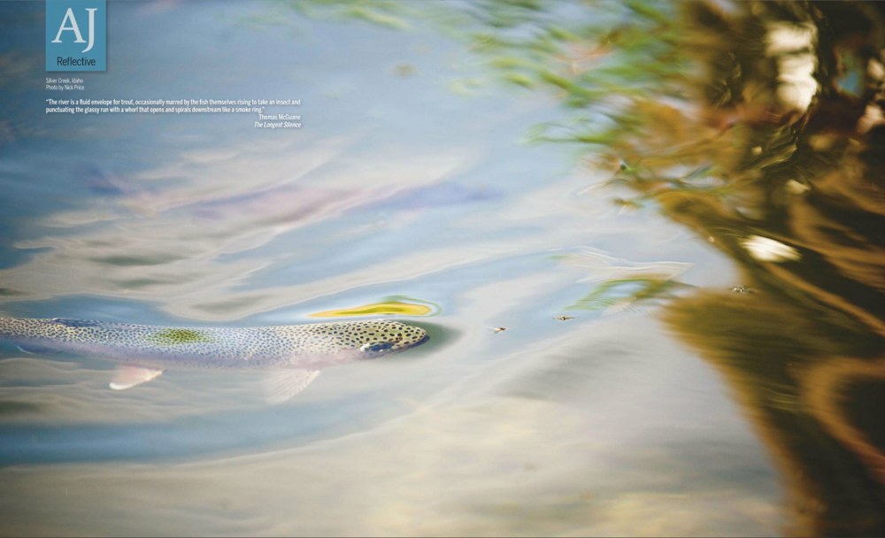 Two Page image in the Summer of 2016 issue of Angler's Journal.