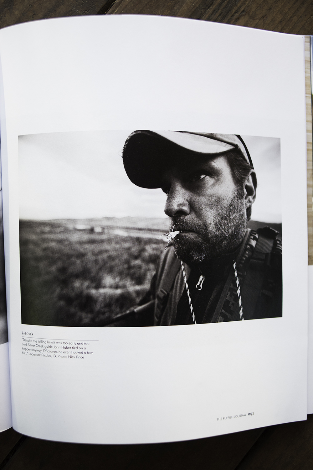 Image of Guide and Outfitter of Picabo, Idaho, John Huber, in issue 7.4 of The FlyFish Journal.