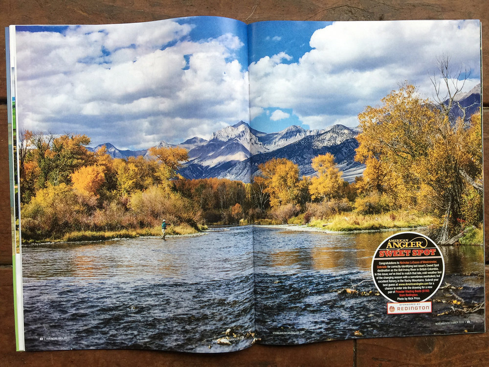 Two Page Image in the Nov / Dec of 2016 issue of American Angler.