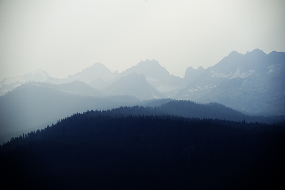 Sawtooths & Smoke. August 2017. Idaho.