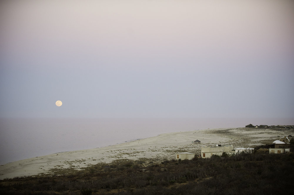 Moonrise. East Cape. Baja, Mexico