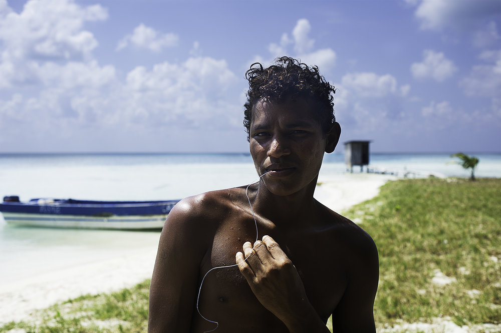 A young Miskito Indian at Faraway Cay