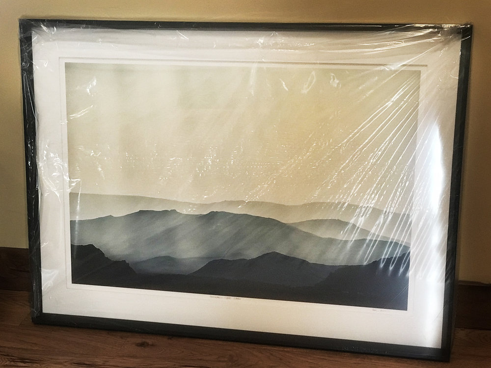 """16"""" x 24""""  Atmospheric Light  matted and framed to a total size of 32.5"""" x 44.5"""""""