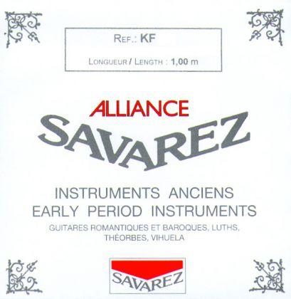 Savarez a développé les cordes KF dans le but de reproduire la qualité du boyau pour les instruments anciens.