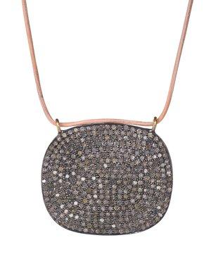 Pav diamond square necklace lera jewels pav diamond square necklace aloadofball Choice Image