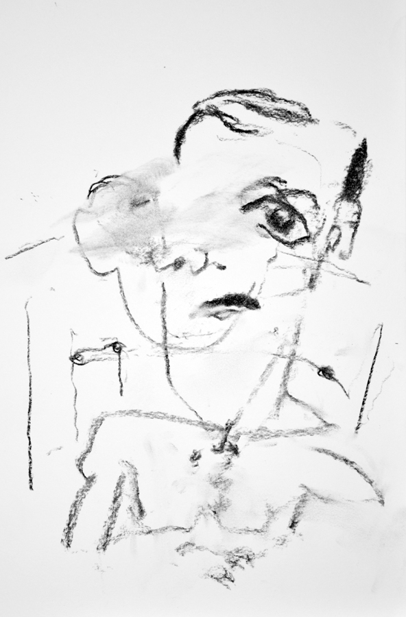 Self Portrait, Eyes Closed, In A Dark Room