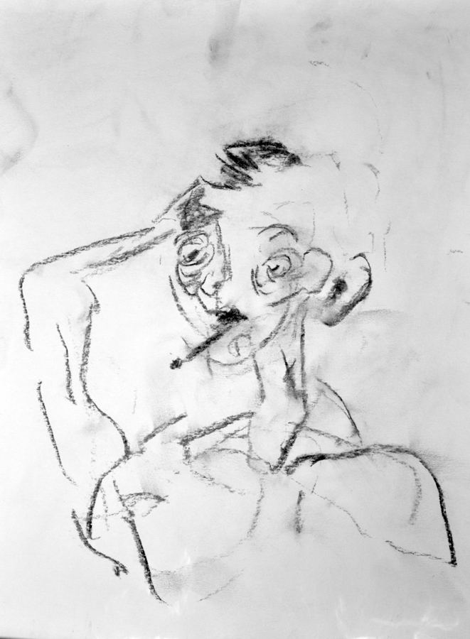 Self Portrait, Eyes Closed