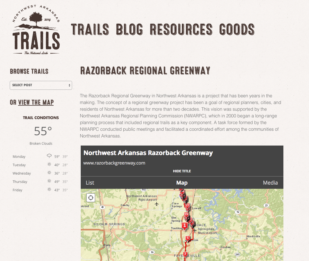 Click here to learn more about the NWA trails system.