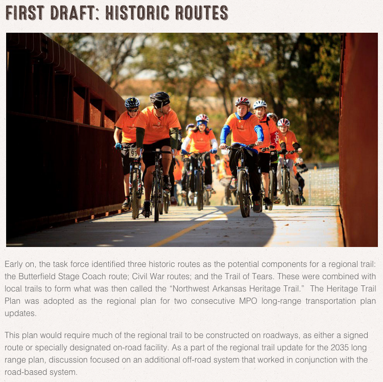 A history of the recently connected Razorback Greenway.