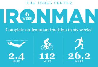 6-week ironman triathlon at the jones center. Only $10.